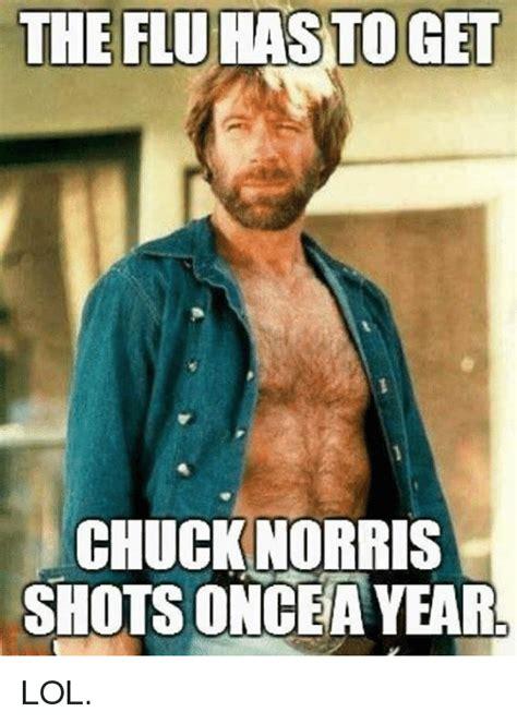 Flu Shot Meme - 25 best memes about chuck norris shot chuck norris shot