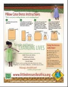 pillow case dress directions little dresses for africa