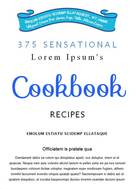 cookbook templates word cookbook template 31 free psd eps indesign word pdf