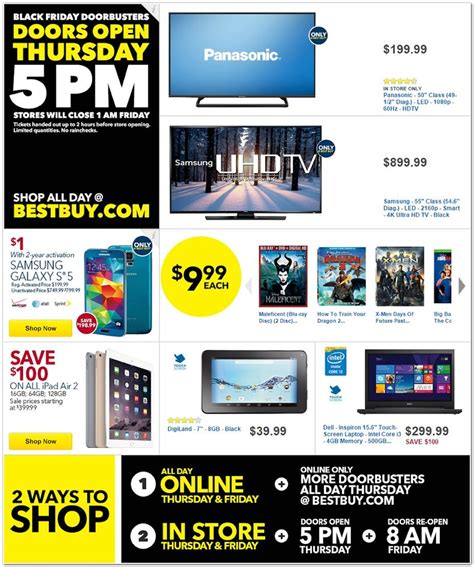 best buy black friday best buy 2014 black friday ad 50 panasonic led 1080p tv
