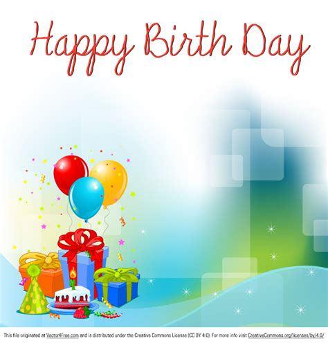 happy birthday background design vector free birthday background vector