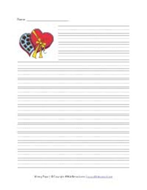 printable lined valentines paper seasonal and holiday writing paper all kids network