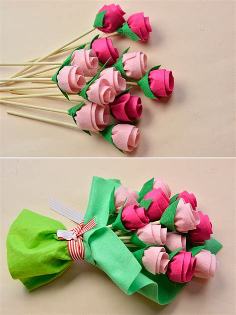 How To Make Handmade Flower Bouquet - gift for fashionornaments