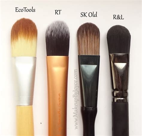 Flat Foundation Brush makeupbyjoyce review comparison battle of the
