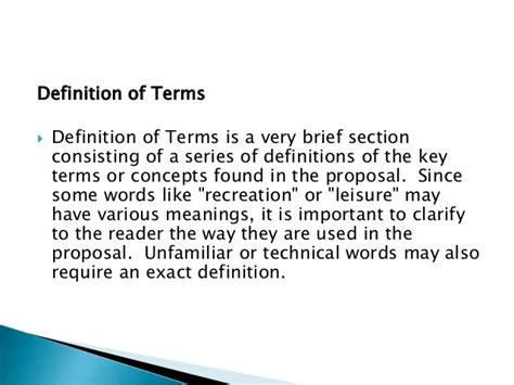 dissertation definition of terms 10 tips for writing the dissertation definition of terms