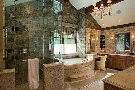 granite ridge timber frame master bathroom teton