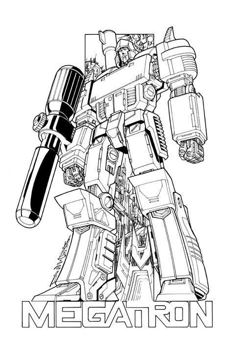 transformers megatron coloring page pin megatron transformers coloring pages on pinterest