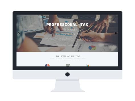 At Tax Free Responsive Tax Website Templates Free Tax Preparation Website Templates