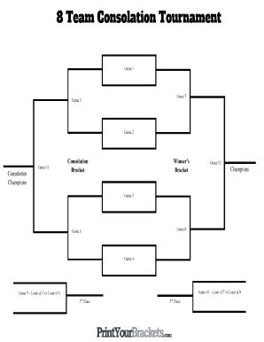 8 team bracket template 8 team tournament bracket fill printable