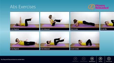 abs exercises app for windows in the windows store