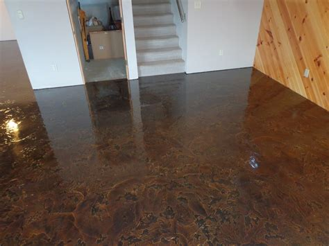 concrete floor finishes color finish trial on poured everything you wanted to know about stained concrete