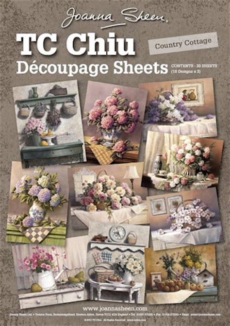 Joanna Sheen Decoupage - joanna sheen tc chiu decoupage sheets country cottage