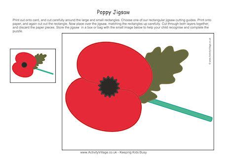 printable paper poppies poppy printable jigsaw