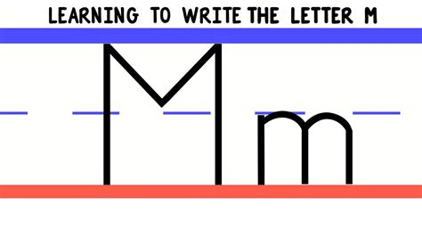 Write the Letter M - ABC Writing for Kids - Alphabet ... M