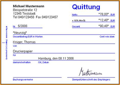 Release Letter Uws muster quittung 28 images quittungsblock vorlage