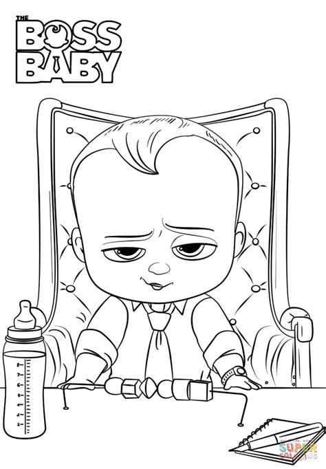 coloring pages baby boss boss baby coloring page free printable coloring pages