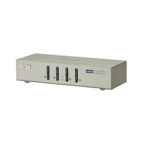 kvm switch 4 port usb aten cs74u 4 port usb kvm switch with audio