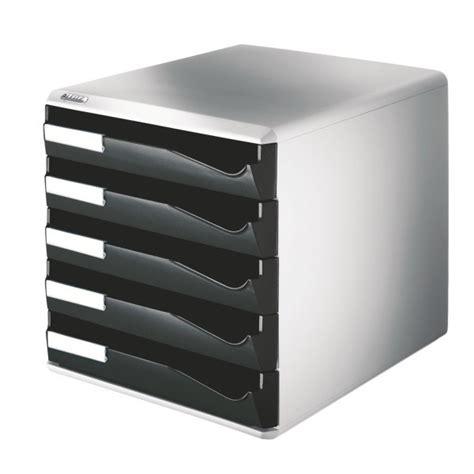 5s schublade schubladenbox leitz 5280 5 schubladen lichtgrau schwarz