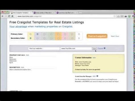 free craigslist templates for real estate listings youtube