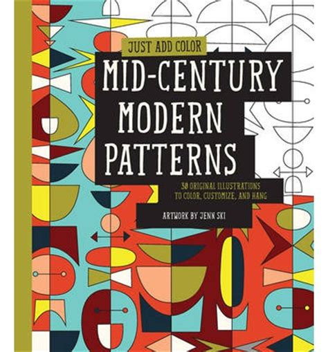 mid century patterns just add color mid century modern patterns jenn ski