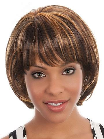 auburn highlights fir black women short hairdos auburn hair blonde highlights wigs bob synthetic hair