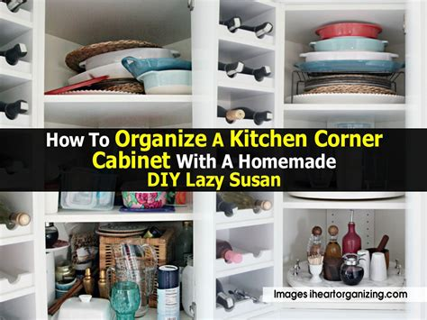 how to organize a kitchen corner cabinet with a