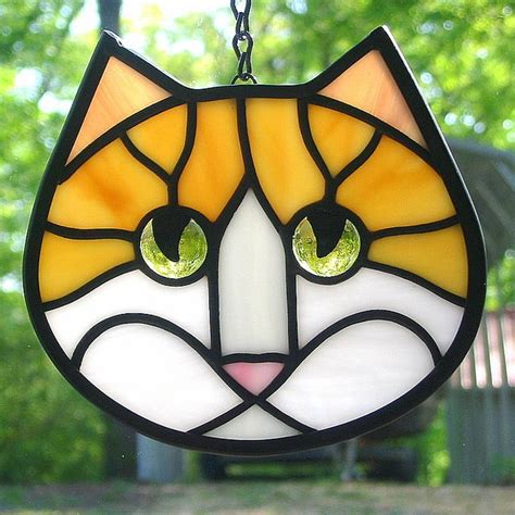 stained glass cat stained glass cat art cat stained glass pinterest