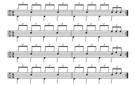 drum pattern fill shuffle short drum fills