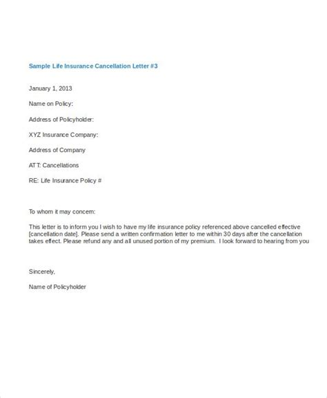 cancellation letter templates letter templates