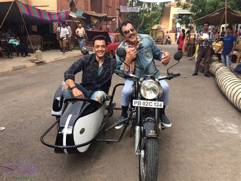 deol shares the teaser of bobby deol with dharmendra from the sets of yamla