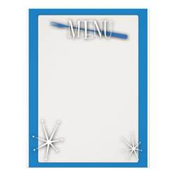 blank menu templates retro style blank menu template flyers zazzle