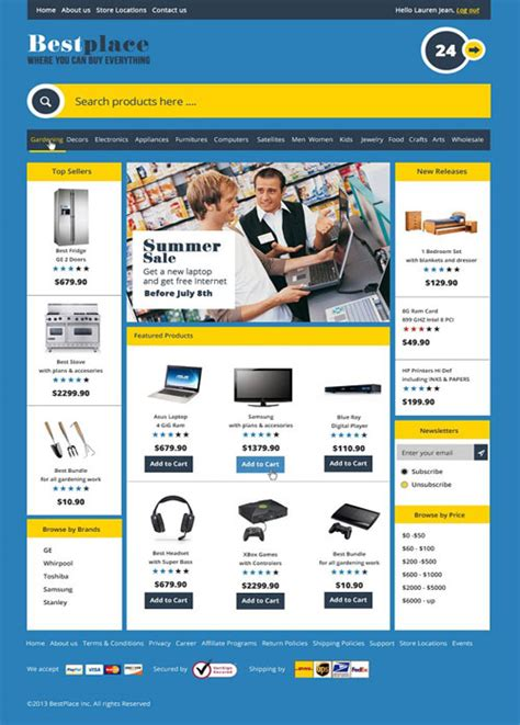 55 Best 3dcart Ecommerce Templates Designmaz Best Ecommerce Template