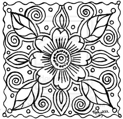 abstract art coloring pages abstract flower doodle