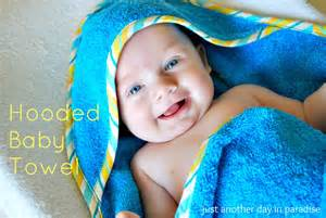 infant hooded bath towels larissa another day hooded baby towel tutorial
