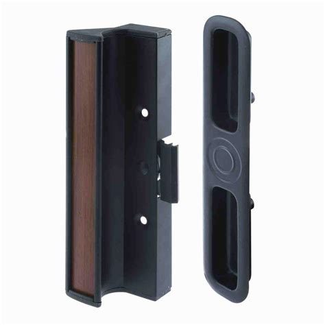 Sliding Glass Door Latches Prime Line Hook Latch Black Sliding Door Handle C 1252 The Home Depot