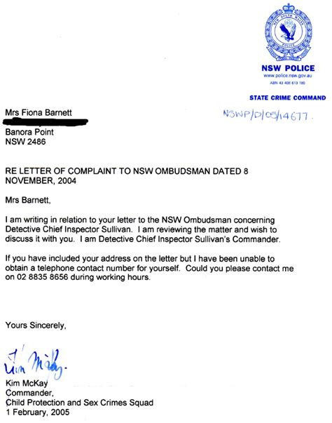 Report Sick Letter nsw protects alleged tweed heads paedophile ring