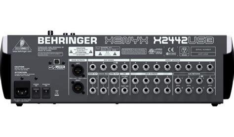 Mixer Behringer Xenyx 2442fx behringer x2442usb xenyx 24 channel usb mixer w effects