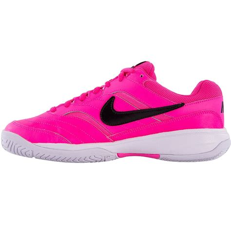 nike court lite s tennis shoe pink black