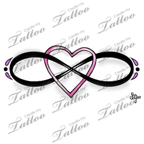 infinity tattoo png marketplace tattoo eternal love infinity heart design