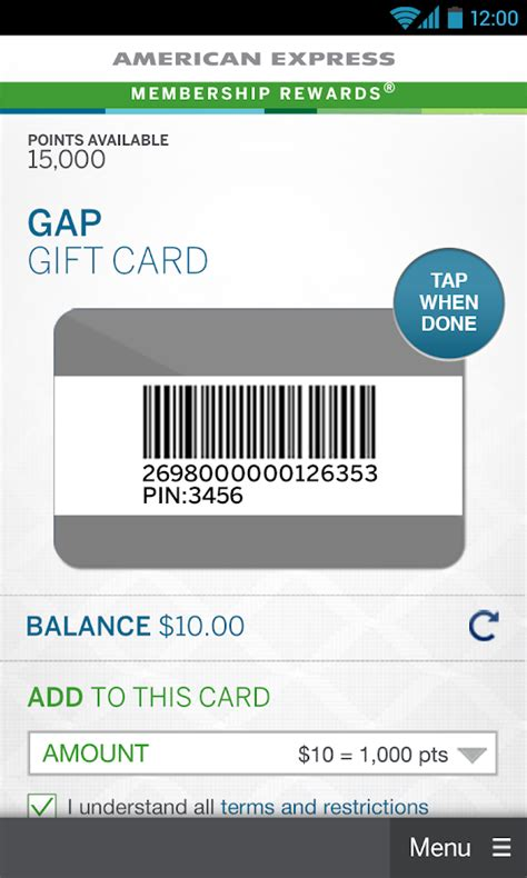Mobile Gift Card Wallet Amex - amex mobile android apps on google play