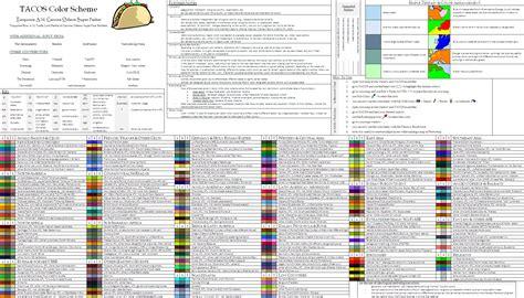color themes names tacos color scheme the revision page 10 alternate