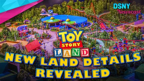 the story of world new land details revealed for toy story land at walt disney world disney news 9 15 17 youtube