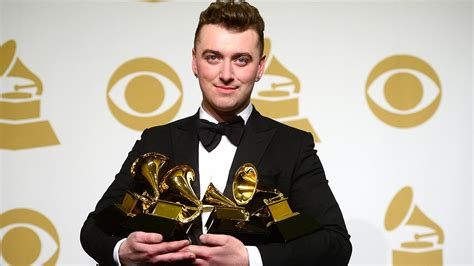how is sam smith feeling after celebrating his grammy victory sam smith on grammy wins i feel like kate winslet at the