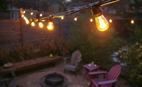 commercial outdoor patio string lights decor ideas