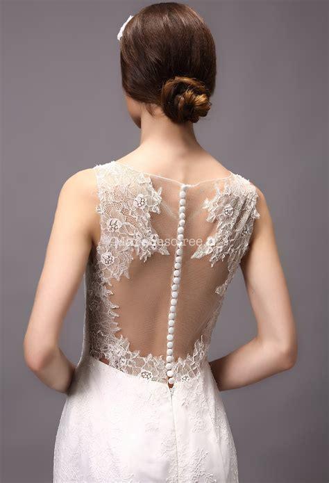 Robe De Mariée Simple Dentelle Dos - robe de mari 233 e avec manches fermeture boutons dos dentelle
