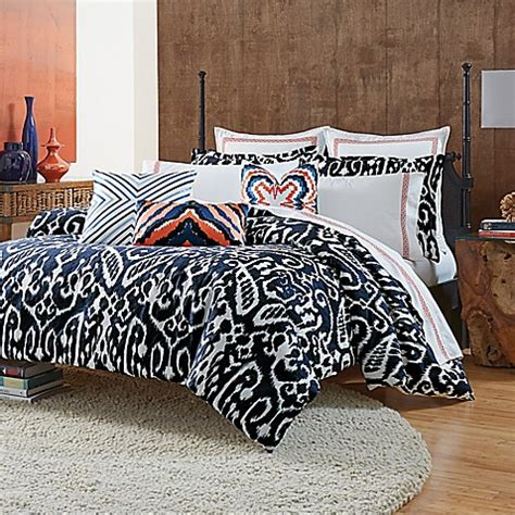trina turk comforter buy trina turk 174 indigo ikat comforter set from bed bath