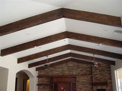 fake wood beams for ceiling