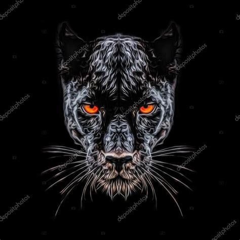 imagenes abstractas en negro pantera en fondo negro foto de stock 169 valik4053022