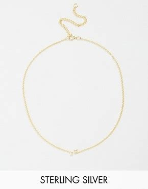 Asos Open Shapes Multirow Necklace asos gold plated sterling silver sagittarius choker necklace