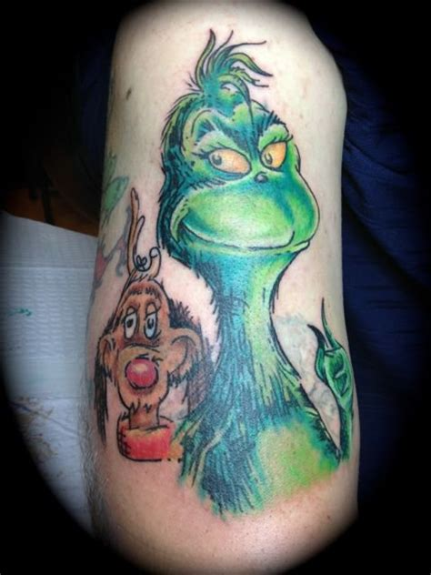 the grinch tattoos by aaron broke